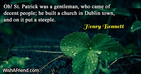 stpatricksday-Oh! St. Patrick was a
