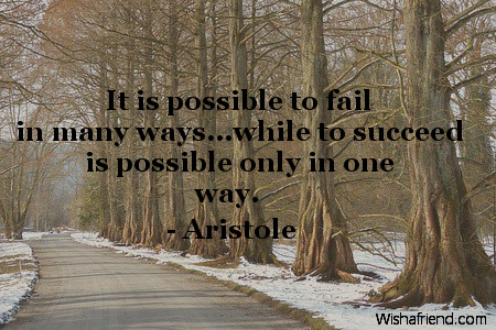 success-It is possible to fail