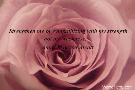 sympathy-Strengthen me by sympathizing with