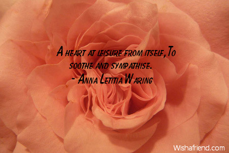 sympathy-A heart at leisure from