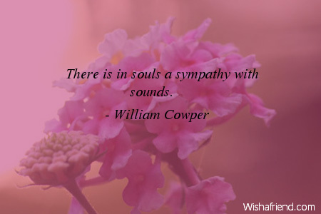 sympathy-There is in souls a
