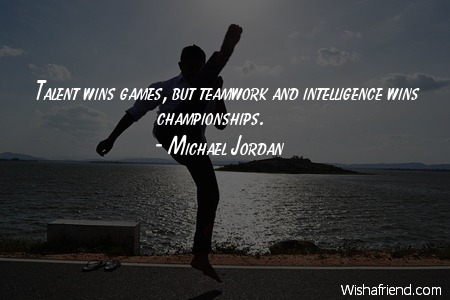 talent-Talent wins games, but teamwork