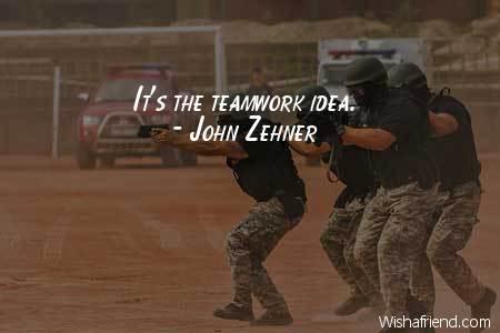 teamwork-It's the teamwork idea.