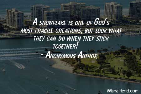 teamwork-A snowflake is one of