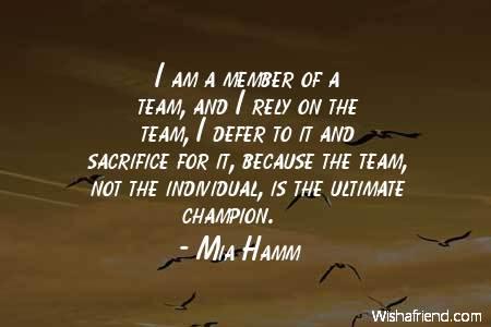 teamwork-I am a member of