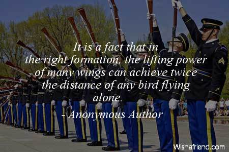 teamwork-It is a fact that