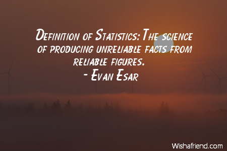 Evan Esar Quote: Definition of Statistics: The science of