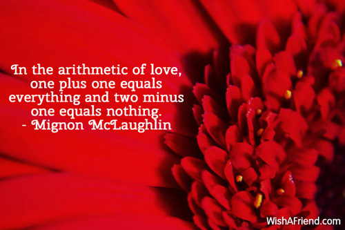 valentinesday-In the arithmetic of love,