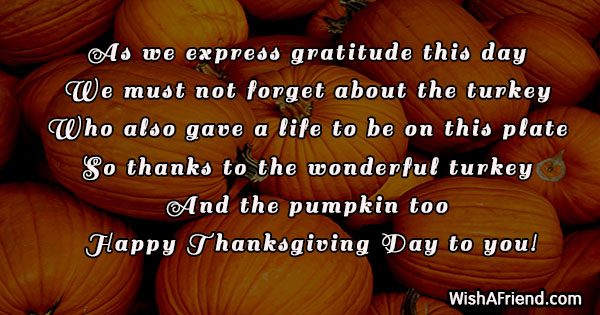 As we express gratitude this day, Funny Thanksgiving Quote
