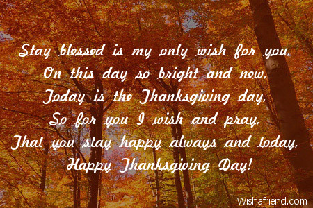 Stay blessed is my only wish thanksgiving card message 8421 thanksgiving card messages m4hsunfo