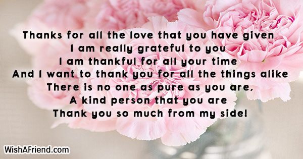 Thanks For All The Love That Thank You Quote