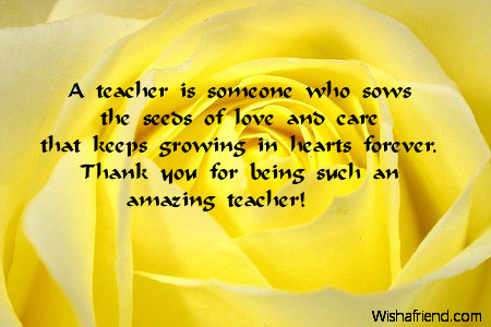 gratitude and teacher