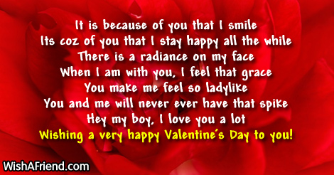 It Is Because Of You That Valentine S Day Messages For Boyfriend