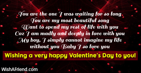 You Are The One I Was Valentine S Day Messages For Boyfriend