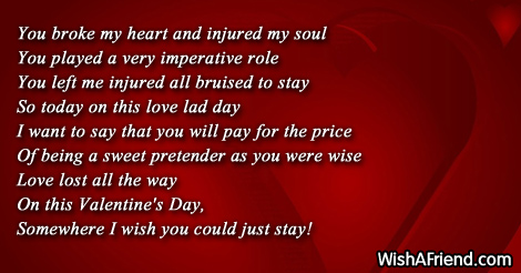 Broken Heart Valentine Messages