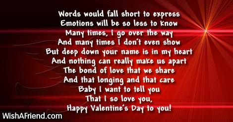 17972 short valentine poems