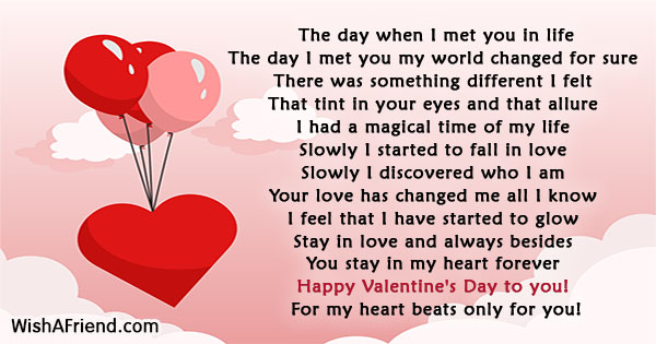 Lovely Short Valentines Day Poems Pictures Inspiration - Valentine ...
