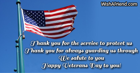 Thank You For The Service To Veterans Day Message