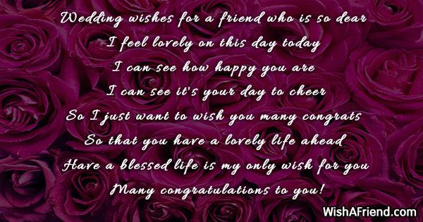 Wedding Wishes Congratulations.Wedding Wishes For A Friend Who Wedding Congratulations