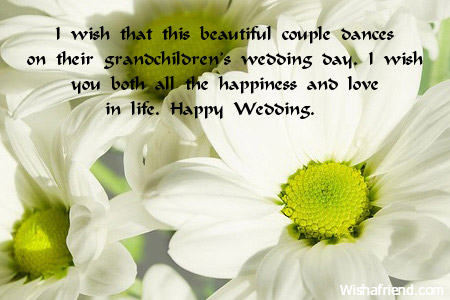 I Wish That This Beautiful Couple Wedding Message