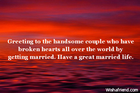 Greeting to the handsome couple who wedding wishes 3419 wedding wishes m4hsunfo