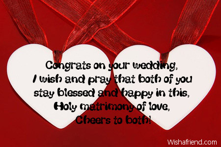 Congrats On Your Wedding I Wish Card Message