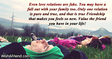 Even Love Relations Are Fake You Whatsapp Status For Friends